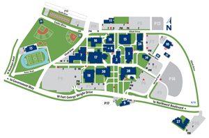 college campus maps and off campus locations